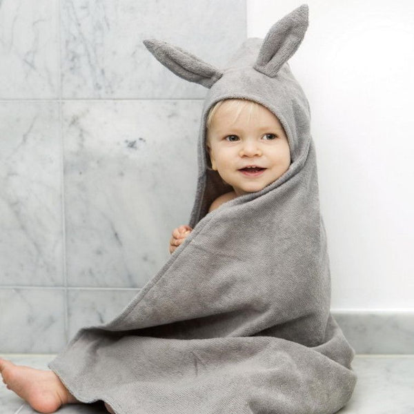Elodie Details - Hooded Towel - Marble Grey - Towel - Elodie Details - Bmini - Design for Kids - 1