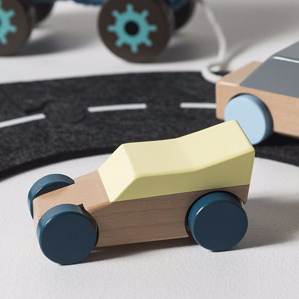 Sebra - Wooden racecar - yellow - Toy Car - Bmini | Design for Kids