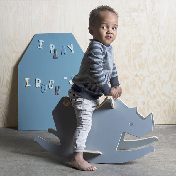 Sebra - Wooden rockinghorse - I Rock - cloud blue/grey - Toys - Sebra - Bmini - Design for Kids - 2