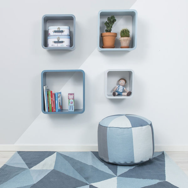 Sebra - Storage units - square - 4 pcs - matte - cloud blue - Storage - Sebra - Bmini - Design for Kids - 2
