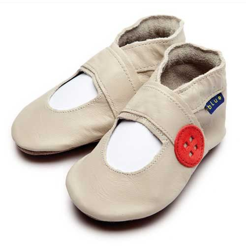 Baby Shoes Mary Jane Button (cream) - Inch Blue - Shoes - Bmini | Design for Kids