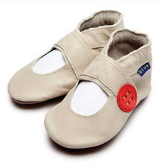 Inch Blue - Mary Jane button (cream) - Shoes - Inch Blue - Bmini - Design for Kids