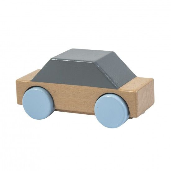 Sebra - Wooden car - grey - Toys - Sebra - Bmini - Design for Kids