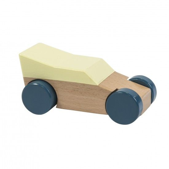 Sebra - Wooden race car - yellow - Toys - Sebra - Bmini - Design for Kids - 1