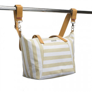 Storksak Noa - stripe fawn diaper bag - Diaper bags - Bmini | Design for Kids
