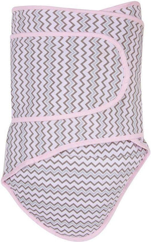 Miracle Blanket - Swaddling Blanket - Pink Chevron - Swaddling Blanket - Bmini | Design for Kids