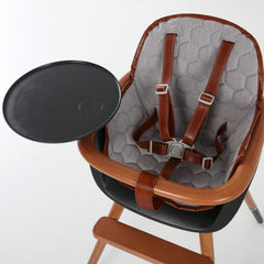 Micuna - Cushion for Ovo High Chair - Grey with Brown Leatherette - High chair accessories - Bmini | Design for Kids