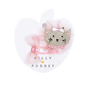 Billy Loves Audrey - Hair clip set - Cat - Hair accessories - Bmini | Design for Kids