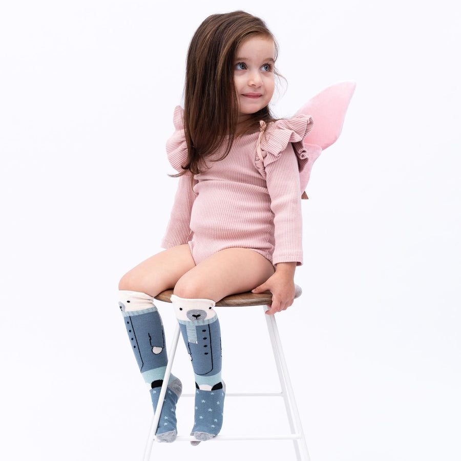 Billy Loves Audrey - Knee hi socks - Bear - Socks & Tights - Bmini | Design for Kids
