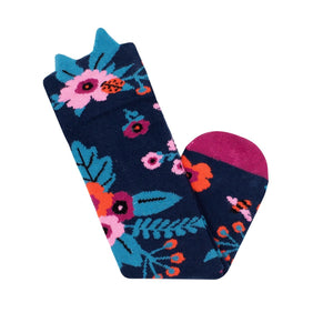 Billy Loves Audrey - Knee hi socks - Garden - Navy - Socks & Tights - Bmini | Design for Kids