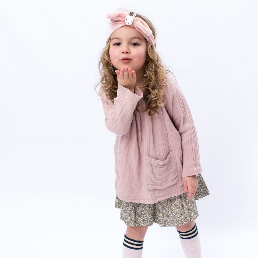 Billy Loves Audrey - Velvet tie band - Bunny - Hair accessories - Bmini | Design for Kids