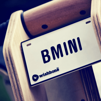 Wishbone - Nameplate - Balance bike - Bmini | Design for Kids