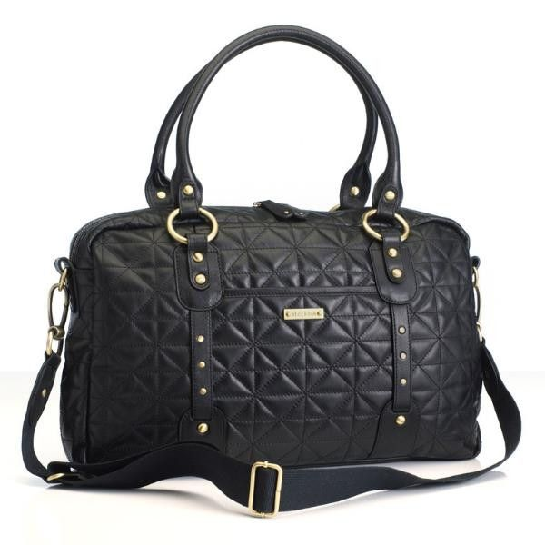 Storksak Elizabeth - Quilted black diaper bag - Diaper bags - Storksak - Bmini - Design for Kids - 2