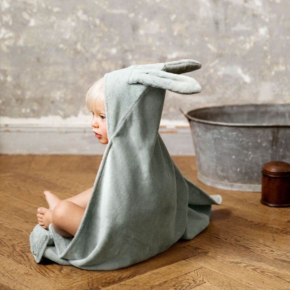 Elodie Details - Hooded towel - Mineral green - Towel - Bmini | Design for Kids