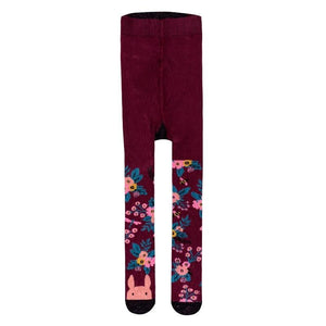 Billy Loves Audrey - Tights - Garden - Plum - Socks & Tights - Bmini | Design for Kids