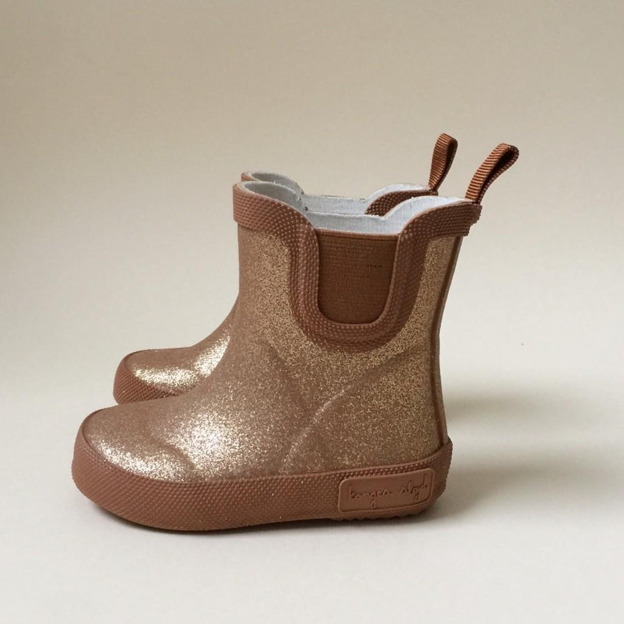 Konges Sløjd - Rubber Boots - Welly with glitter - Tan