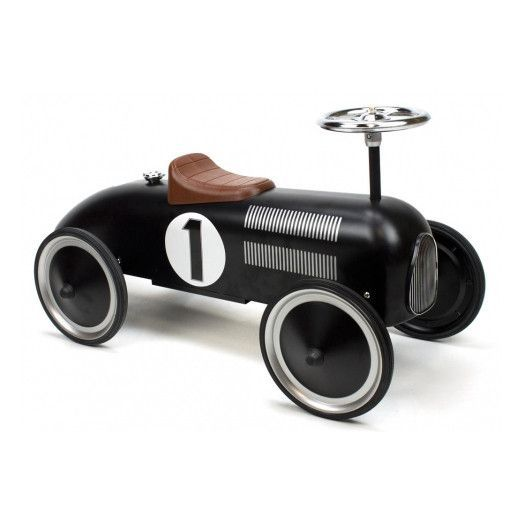 Retro Roller - Vintage black racer - Jack - Ride on toy - Bmini | Design for Kids