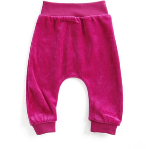 Mundo Melocotón - Baby Baggy Pants Velvet - Raspberry - Pants - Bmini | Design for Kids