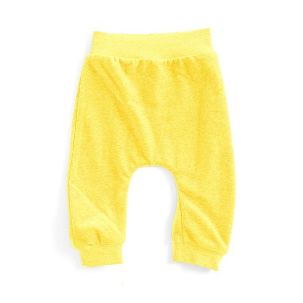Mundo Melocotón - Baby Baggy Pants Velvet - Yellow - Pants - Mundo Melocoton - Bmini - Design for Kids