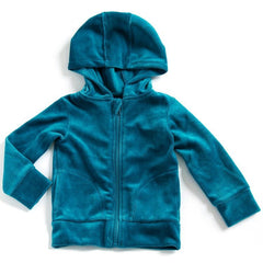 Mundo Melocotón - Hoodie Velvet - Aqua - Clothing-Tops - Bmini | Design for Kids