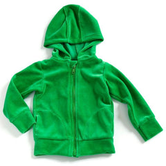 Mundo Melocotón - Hoodie Velvet - Green - Clothing-Tops - Bmini | Design for Kids