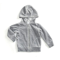 Mundo Melocotón - Hoodie Velvet - Grey - Melee - Clothing-Tops - Bmini | Design for Kids