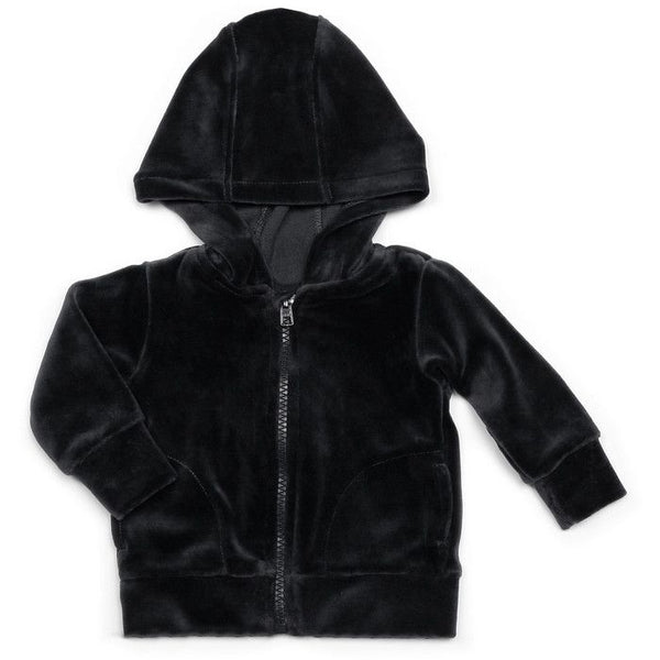 Mundo Melocotón - Hoodie Velvet - Navy Grey - Clothing-Tops - Mundo Melocoton - Bmini - Design for Kids