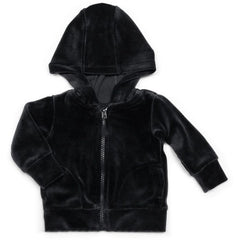 Mundo Melocotón - Hoodie Velvet - Navy Grey - Clothing-Tops - Bmini | Design for Kids
