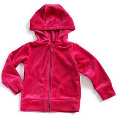 Mundo Melocotón - Hoodie Velvet - Raspberry - Clothing-Tops - Bmini | Design for Kids