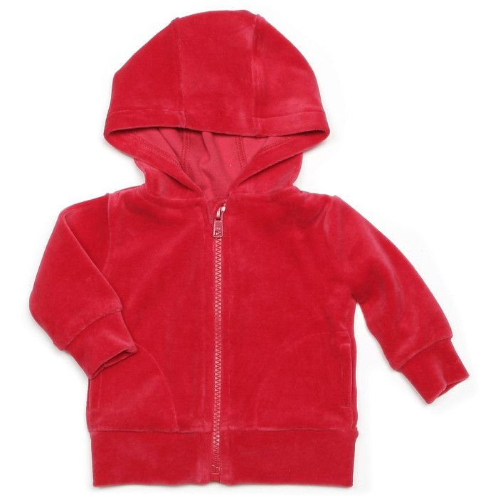 Mundo Melocotón - Hoodie Velvet - Red - Clothing-Tops - Bmini | Design for Kids