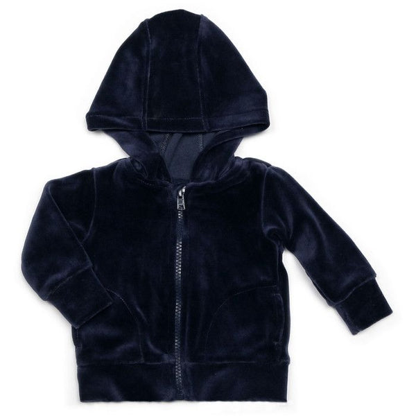 Mundo Melocotón - Hoodie Velvet - Retro Blue - Clothing-Tops - Bmini | Design for Kids
