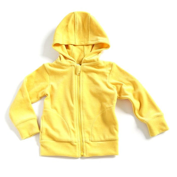Mundo Melocotón - Hoodie Velvet - Yellow - Clothing-Tops - Mundo Melocoton - Bmini - Design for Kids