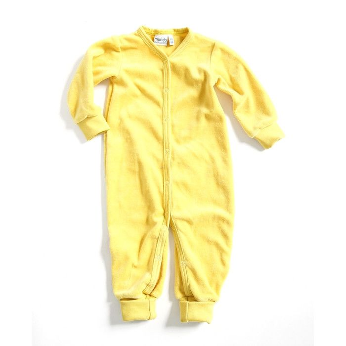 Mundo Melocotòn - Playsuit Velvet - Yellow - Clothing-Playsuit - Bmini | Design for Kids