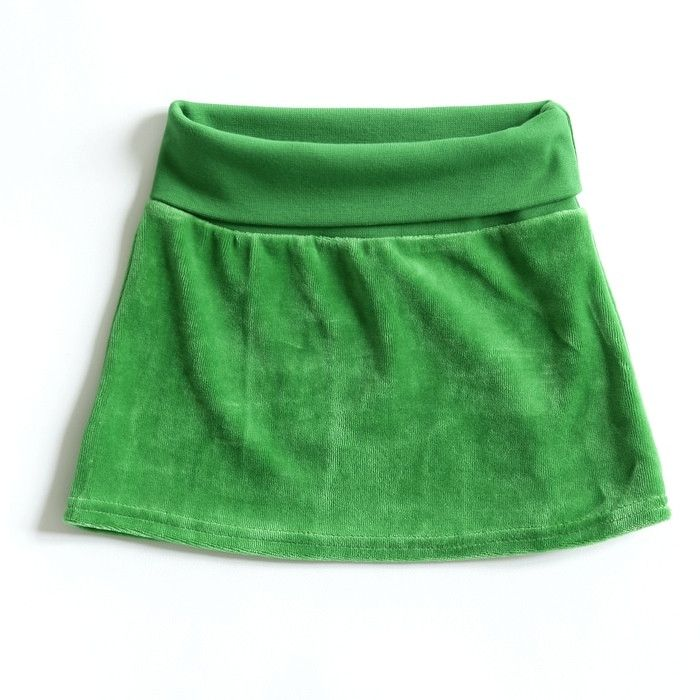 Mundo Melocotón - Skirt Velvet - Green - Clothing-Skirt - Bmini | Design for Kids