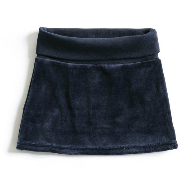 Mundo Melocotón - Skirt Velvet - Retro Blue - Clothing-Skirt - Mundo Melocoton - Bmini - Design for Kids