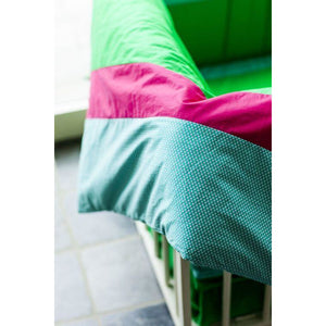Mundo Melocotón - Duvet cover Raspberry/green (100x140cm) - Duvet Cover - Bmini | Design for Kids