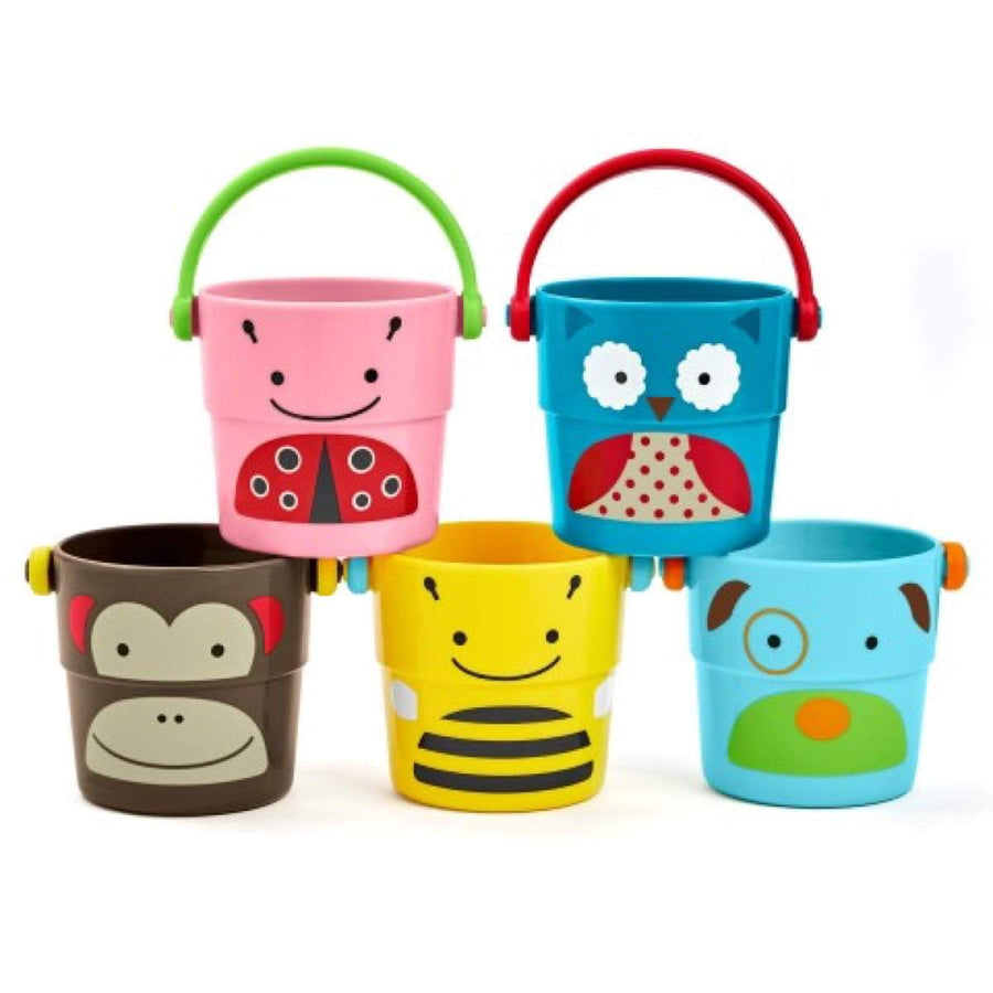 Skip Hop - Bath Toy - Zoo Stack & Pour Buckets - bath toys - Bmini | Design for Kids