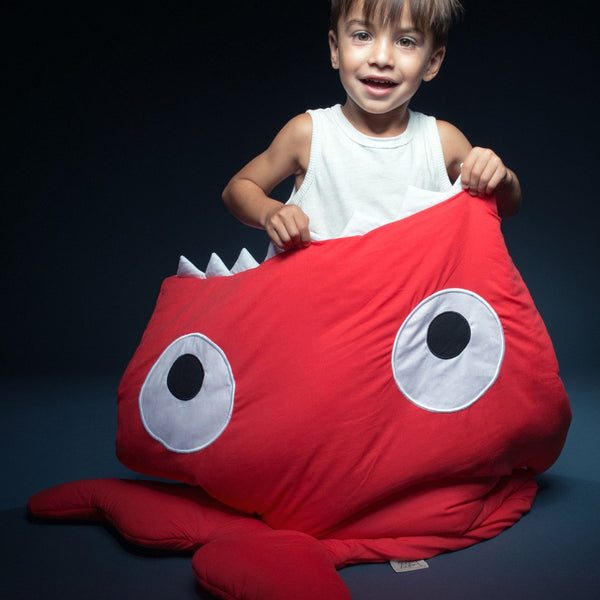 Baby Bites - Kids Sleeping Bag - Red - Sleeping bag - Bmini | Design for Kids