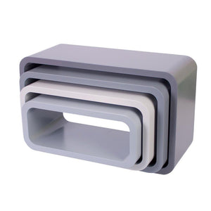 Sebra - Storage units - Oval - Set of four - Matte grey