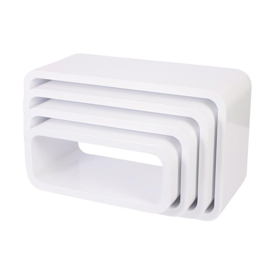 Sebra - Storage units - Oval - Set of Four - Matte White - Storage - Bmini | Design for Kids