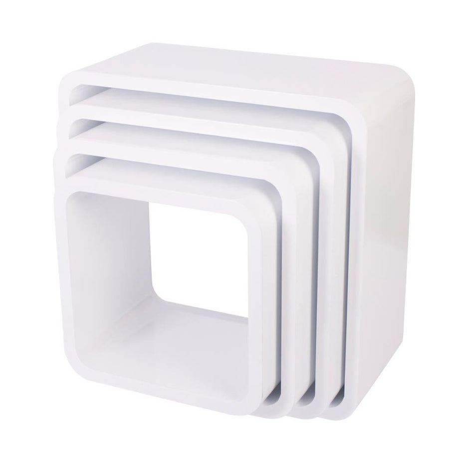 Sebra - Storage units - Square - Set of 4 - Matte white - Storage - Bmini | Design for Kids