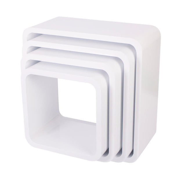 Sebra - Storage units - Square - Set of 4 - Matte white