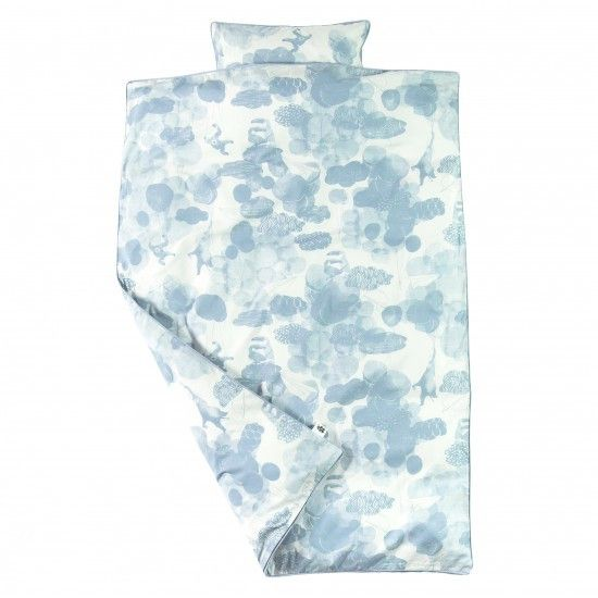 Sebra - Bed linen - junior - In the Sky - cloud blue - Bedding - Bmini | Design for Kids