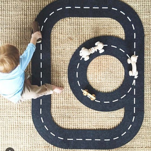 Sebra - Felt roadway - Toy Car Track - Bmini | Design for Kids