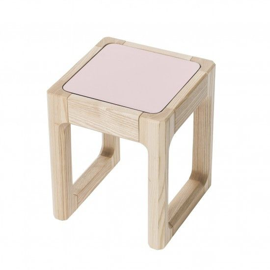 Sebra - Flip Top stool - pastel pink/dark grey - Chair - Sebra - Bmini - Design for Kids - 1