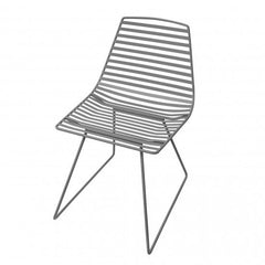 Sebra - Me-Sit metal chair - L - dark grey - Chair - Sebra - Bmini - Design for Kids
