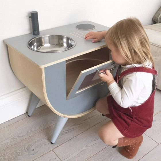Sebra - Play kitchen - grey - Toys - Sebra - Bmini - Design for Kids - 2