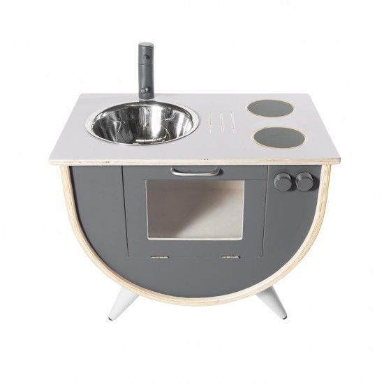 Sebra - Play kitchen - grey - Toys - Sebra - Bmini - Design for Kids - 1