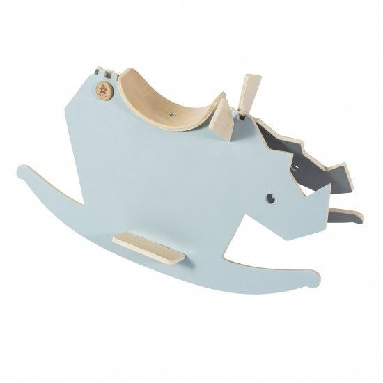 Sebra - Wooden rockinghorse - I Rock - cloud blue/grey - Toys - Sebra - Bmini - Design for Kids - 1