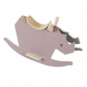 Sebra - Wooden rockinghorse - I Rock - vintage rose/grey - Toy rocking - Bmini | Design for Kids